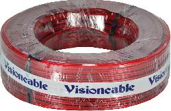 cabo+cristal+2x18+075mm+100mts+vermelho++visioncable