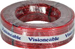 cabo+cristal+2x12+250mm+100mts+vermelho++visioncable