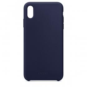 CAPA PARA CELULAR IPHONE XS MAX EM SILICONE LÍQUIDO - AZUL MIDNIGHT BLUE - MT-XMA - 1