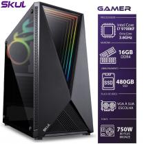 COMPUTADOR GAMER 7000 - I7 9700KF 3.6GHZ 9ª GER. SEM VÍDEO INTEGRADO MEM. 16GB DDR4 SSD 480GB FONTE 750W BRONZE - 1