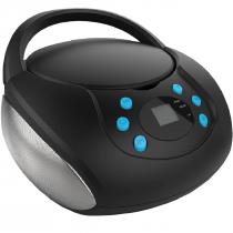 CAIXA DE SOM BOOMBOX BLUETOOTH COM CD BT/AUX/USB/FM SP345 - 1