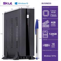 MINI COMPUTADOR BUSINESS B100 - CELERON QUAD CORE J4105 1.50GHZ 4GB DDR4 SODIMM SSD 120GB 1X SERIAL FONTE 60W WIN 10 PRO - 1
