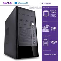 COMPUTADOR HOME H200 - PENTIUM DUAL CORE G5400 3.7GHZ MEM 4GB DDR4 SSD 120GB HDMI/VGA FONTE 300W WINDOWS 10 PRO - 1