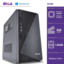 COMPUTADOR HOME H200 - PENTIUM DUAL CORE G6400 3.5GHZ 4GB DDR4 SSD 120GB HDMI/VGA FONTE 300W WINDOWS 10 PRO - 1