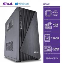 COMPUTADOR HOME H200 - AMD A8 9600 3.1GHZ 4GB DDR4 SSD 120GB HDMI/VGA FONTE 300W WINDOWS 10 PRO - 1