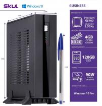 MINI COMPUTADOR BUSINESS B200 - PENTIUM DUAL CORE G5400 3.7GHZ MEM 4GB DDR4 SSD 120GB HDMI/DP FONTE EXT. 90W WIN 10 PRO - 1