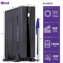MINI COMPUTADOR BUSINESS B200 - PENTIUM DUAL CORE G5400 3.7GHZ MEM 8GB DDR4 SSD 240GB HDMI/DP FONTE EXTERNA 90W - 1