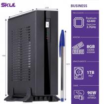 MINI COMPUTADOR BUSINESS B200 - PENTIUM DUAL CORE G5400 3.7GHZ MEM 8GB DDR4 HD 1TB HDMI/DP FONTE EXTERNA 90W - 1