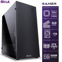COMPUTADOR GAMER 5000 - RYZEN 5 2400G 3.6GHZ MEM. 8GB DDR4 HD 1TB GTX750TI 2GB FONTE 500W - 1
