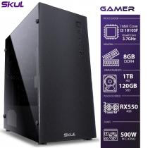COMPUTADOR GAMER 3000 - I3 10105F 3.7GHZ 10ª GER. MEM. 8GB DDR4 SSD 120GB HD 1TB RX550 4GB FONTE 500W - 1