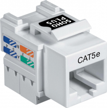 CONECTOR JACK FÊMEA CAT.5E T568A/B - BRANCO - 1