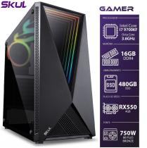 COMPUTADOR GAMER 7000 - I7 9700KF 3.6GHZ 9ª GER. MEM. 16GB DDR4 SSD 480GB RX550 4GB FONTE 750W - 1