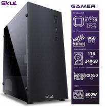 COMPUTADOR GAMER 3000 - I3 10105F 3.7GHZ 10ª GER. MEM. 8GB DDR4 SSD 240GB HD 1TB RX550 4GB FONTE 500W - SEM PPB - 1