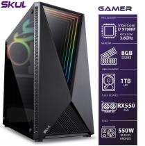COMPUTADOR GAMER 7000 - I7 9700KF 3.6GHZ 9ª GER. MEM. 8GB DDR4 HD 1TB RX550 4GB FONTE 550W BRONZE - 1