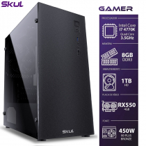 COMPUTADOR GAMER 7000 - I7 4770K 3.5GHZ 4ª GER. MEM. 8GB DDR3 HD 1TB RX550 4GB FONTE 450W BRONZE - 1