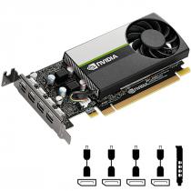 PLACA DE VIDEO NVIDIA QUADRO - T600 4GB GDDR6 128 BITS (4X MDP) - VCNT600-PORPB - 1