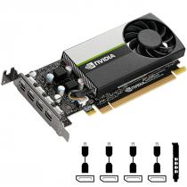 PLACA DE VIDEO NVIDIA QUADRO - T1000 6GB GDDR6 128 BITS (4X MDP) - VCNT1000-PORPB - 1