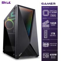 COMPUTADOR GAMER 7000 - I7 10700F 2.9GHZ 10ª GER. SEM VÍDEO INTEGRADO MEM. 16GB DDR4 SSD M.2 1TB FONTE 650W - 1