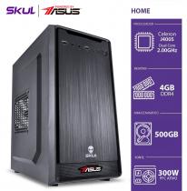 COMPUTADOR HOME H100 POWERED BY ASUS - CELERON DUAL CORE J4005 2.00GHZ 4GB DDR4 HD 500GB FONTE 300W PFC ATIVO - 1