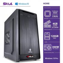 COMPUTADOR HOME H100 POWERED BY ASUS - CELERON DUAL CORE J4005 4GB DDR4 SSD 120GB HDMI/VGA FONTE 300W WINDOWS 10 PRO - 1