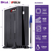 MINI COMPUTADOR BUSINESS B100 POWERED BY ASUS - CELERON DUAL CORE J4005 2.0GHZ 8GB DDR4 HD 1TB 1X SERIAL FONTE EXT. 60W - 1