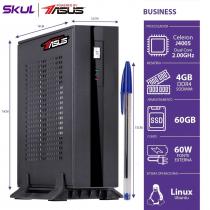 MINI COMPUTADOR BUSINESS B100 POWERED BY ASUS - CELERON DUAL CORE J4005 2.0GHZ 4GB DDR4 SSD 60GB 1X SERIAL FONTE EXT.60W - 1
