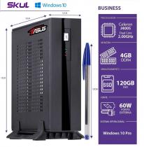 MINI COMPUTADOR BUSINESS B100 POWERED BY ASUS- CEL DUAL CORE J4005 2.0GHZ 4GB DDR4 SSD 120GB SERIAL FONTE 60W WIN 10 PRO - 1