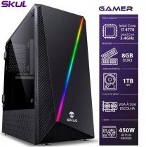 COMPUTADOR GAMER 7000 - I7 4770 3.4GHZ 4ª GER. MEM. 8GB DDR3 HD 1TB FONTE CORSAIR 450W 80PLUS BRONZE - 1