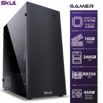 COMPUTADOR GAMER 7000 - I7 4770K 3.5GHZ 4ª GER. MEM. 16GB DDR3 SSD 240GB RX550 4GB FONTE CORSAIR 450W 80PLUS BRONZE - 1