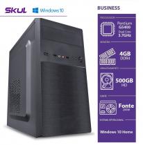 COMPUTADOR HOME H200 - PENTIUM DUAL CORE G5400 3.7GHZ MEM 4GB DDR4 HD 500GB HDMI/VGA FONTE 200W WINDOWS 10 HOME - 1