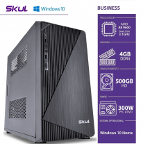COMPUTADOR HOME H200 - AMD A8 9600 3.1GHZ 4GB DDR4 HD 500GB HDMI/VGA FONTE 300W WINDOWS 10 HOME - 1