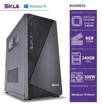 COMPUTADOR BUSINESS B300 - I3 10100 3.6GHZ 10ªGER MEM 8GB DDR4 SSD 240GB HDMI/VGA FONTE 300W WINDOWS 10 HOME - 1