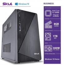 COMPUTADOR BUSINESS B500 - I5 10400 2.9GHZ (4.3GHZ MAX TURBO) MEM 8GB DDR4 HD 1TB  HDMI/VGA FONTE 300W WINDOWS 10 HOME - 1