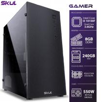 COMPUTADOR GAMER 3000 - I3 10100F 3.6GHZ 10ª GER. SEM VIDEO INTEGRADO MEM. 8GB DDR4 SSD 240GB FONTE 550W - 1