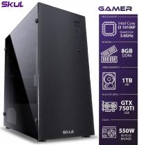 COMPUTADOR GAMER 3000 - I3 10100F 3.6GHZ MEM 8GB DDR4 HD 1TB GTX750TI 2GB FONTE 550W 80PLUS BRONZE - 1