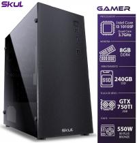 COMPUTADOR GAMER 3000 - I3 10105F 3.7GHZ MEM 8GB DDR4 SSD 240GB GTX750TI 2GB FONTE 550W 80PLUS BRONZE - 1