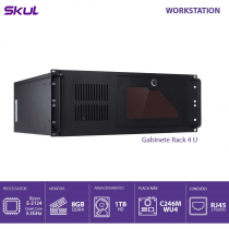 COMPUTADOR BUSINESS B500 - SERVIDOR XEON E-2124G 3.4GHZ MEM 8GB DDR4 NON ECC HD 1TB GABINETE RACK 4U FONTE 550W - 1