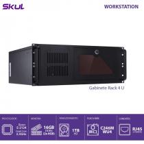 COMPUTADOR BUSINESS B500 - SERVIDOR XEON E-2124G 3.4GHZ MEM 16GB DDR4 (2X8GB) NON ECC HD 1TB GABINETE RACK 4U FONTE 550W - 1