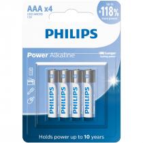 PILHAS ALCALINAS AAA BLISTER COM 4 UNIDADES LR03P4B/59 - 1