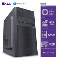 COMPUTADOR HOME H200 - AMD A8 9600 3.1GHZ MEM. 4GB DDR4 SSD 120GB HDMI/VGA FONTE 200W WINDOWS 10 PRO - SEM PPB - 1