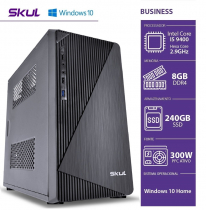COMPUTADOR BUSINESS B500 - I5 9400 2.9GHZ 9ªGER MEM. 8GB DDR4 SSD 240GB HDMI/VGA FONTE 300W WINDOWS 10 HOME - SEM PPB - 1