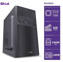 COMPUTADOR BUSINESS B300 - I3 4130 3.4GHZ 4ªGER MEM 8GB DDR3 SSD 240GB HDMI/VGA FONTE 300W PFC ATIVO - SEM PPB - 1