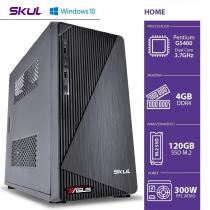 COMPUTADOR HOME H200 POWERED BY ASUS - PENTIUM DUAL CORE G5400 3.7GHZ MEM 4GB DDR4 SSD M.2 120GB 300W WINDOWS 10 PRO - 1