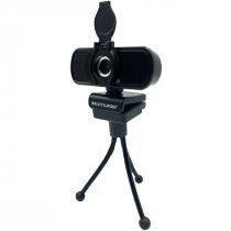 WEBCAM FULL HD 1080P COM TRIPÉ NOISE CANCELLING MICROFONE USB PRETO WC055 - 1