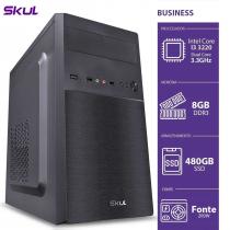 COMPUTADOR BUSINESS B300 - I3 3220 3.3GHZ 3ªGER MEM 8GB DDR3 SSD 480GB HDMI/VGA FONTE 200W - 1