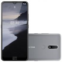 "SMARTPHONE NOKIA 2.4 TELA 6,5"" HD+ CÂMERA TRASEIRA DUPLA 13MP + 12MP, ARMAZENAMENTO 64GB + 3GB RAM CINZA NK015 - 1"
