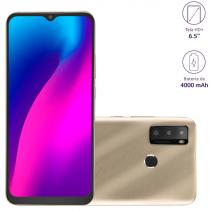 """SMARTPHONE G MAX 2, 64GB 2 GB RAM TELA 6,5"""" HD CÂMERA TRIPLA 8 MP, PROCESSADOR OCTA CORE DOURADO P9157 - 1"""