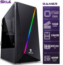 COMPUTADOR GAMER 5000 - I5 10400F 2.9GHZ 10ª GER. MEM. 16GB DDR4 SSD 240GB RX 550 4GB FONTE 600W WHITE - 1