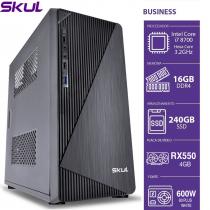 COMPUTADOR BUSINESS B700 - I7 8700 3.2 GHZ 8ªGER MEM. 16GB DDR4 SSD 240GB RX 550 4GB FONTE 600W 80 PLUS WHITE - 1
