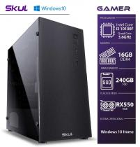 COMPUTADOR GAMER 3000 - I3 10100F 3.6GHZ 10ª GER. MEM. 16GB DDR4 SSD 240GB RX550 4GB FONTE 650W 80 PLUS WINDOWS 10 HOME - 1